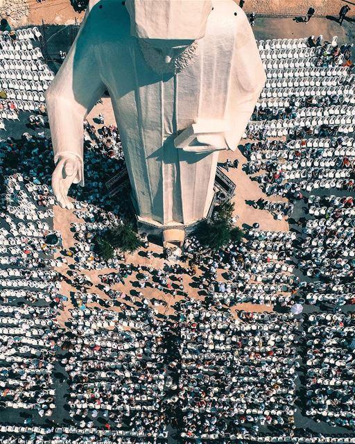 23 meters, the world's highest Saint Charbel statue!By @nogarlicnoonions ... (Faraya, Mont-Liban, Lebanon)