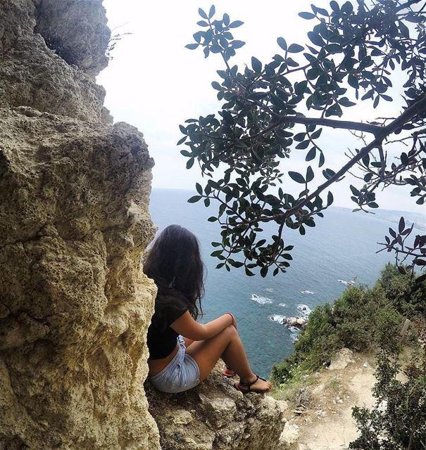 Enjoying the view beachlovers amazingview northlebanon livelovechekka...
