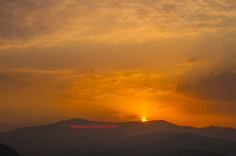 A glorious sunrise from behind Mount Sannine... as seen from Ballouneh/Dara (Mount Sannine)