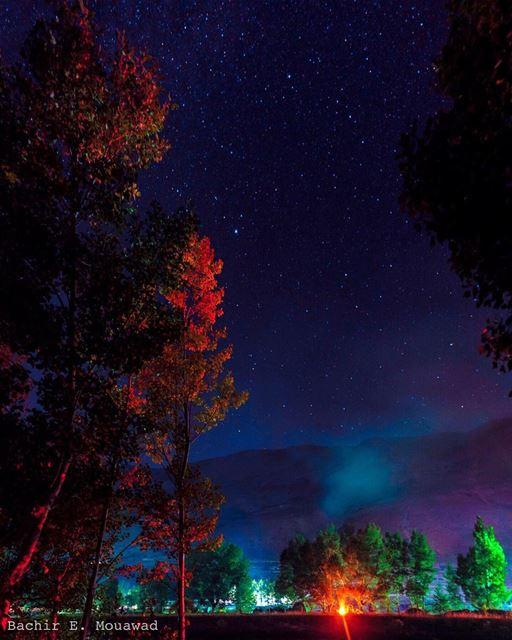 camping oyounorghosh night nightfullofstars longexposure fire ...