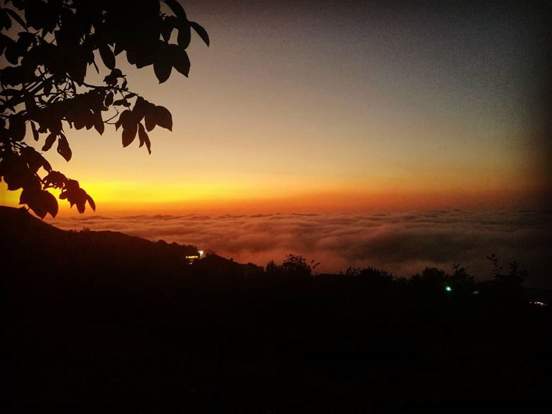romaticview realxingview skyview sunset with fog @ ehden northlebanon ... (Ehden, Lebanon)