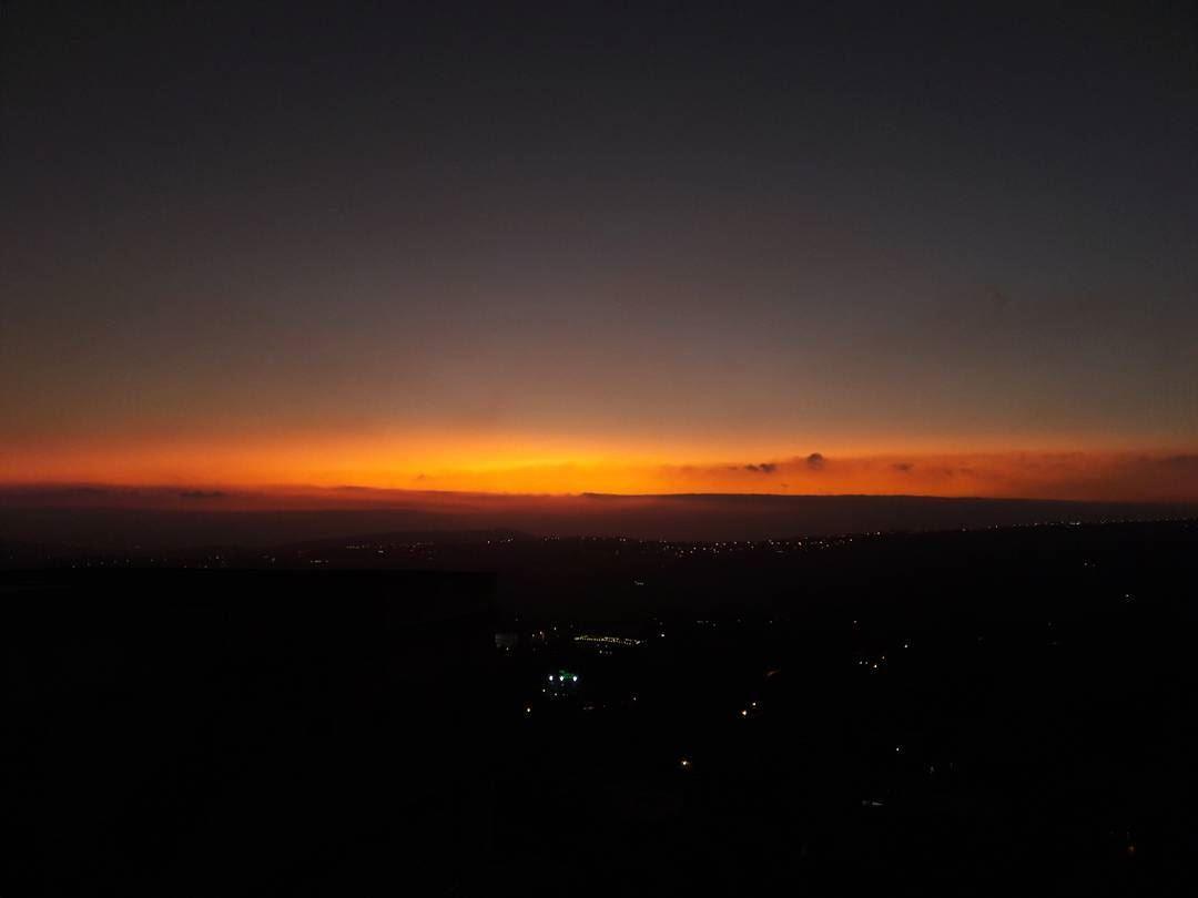 September's sunset ❤ sunset today september sky horizon beautiful ... (Al Khiyam, Al Janub, Lebanon)