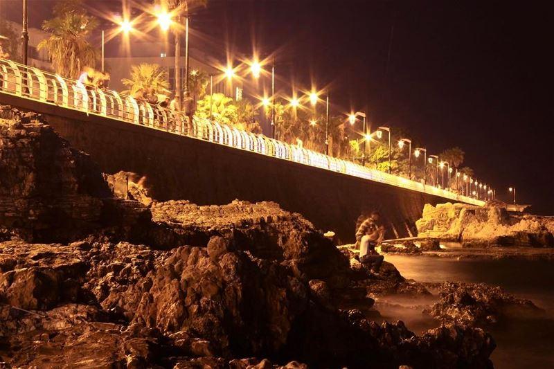 Lights beirut manara sea sightseeing landscape cityscape lebanon_hdr... (Ain El Mreisse, Beyrouth, Lebanon)