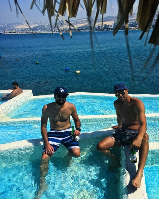 Starting the week in Santorini, Greece 🇬🇷 !! i mean Chekka, Lebanon 🇱🇧 (Rocca Marina)