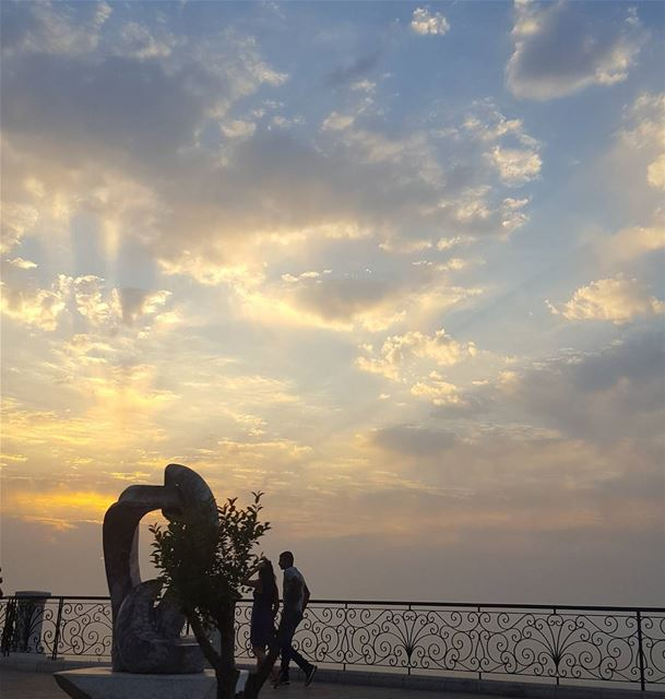 clouds sky sunset lovers aley life love friends live... (Aley)
