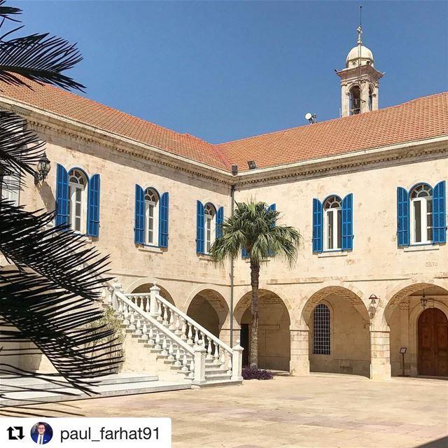 🇱🇧 Você sabia que a sede do patriarcado maronita em Bkerke, no Líbano, já (Bkerké)