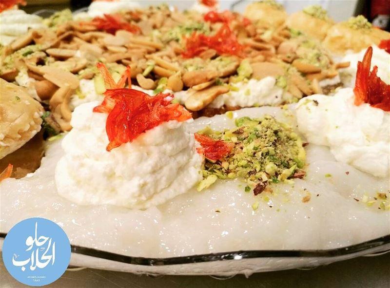 حلاوة الرز 😍👌😁 من أطيب منوعات القشطيات --------------------------------- (Abed Ghazi Hallab Sweets)