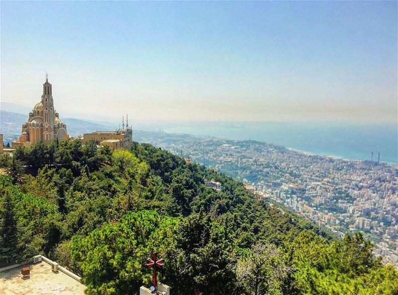 lebanon beirut architecture instagood wanderlust travelgram ... (سيدة لبنان حريصا)