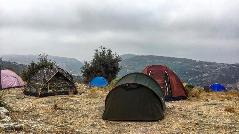 This is gotta be the good life 🏕 6 am view! firstcampingexperience ... (Bchaalé, Liban-Nord, Lebanon)