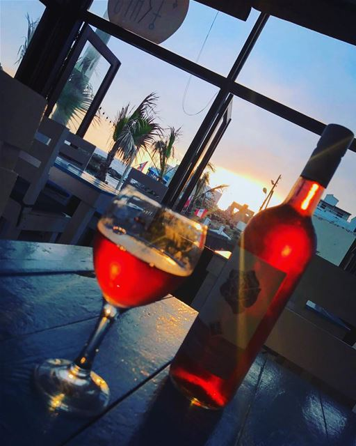 Enjoying the sunset 😍 Cheers 🍷 lebanon batroun raysbatroun bahsa ... (RAY's Batroun)
