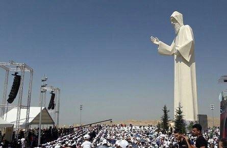 تبريك تمثال القديس شربل - فاريا nayef_alwan art artist sculptor ...