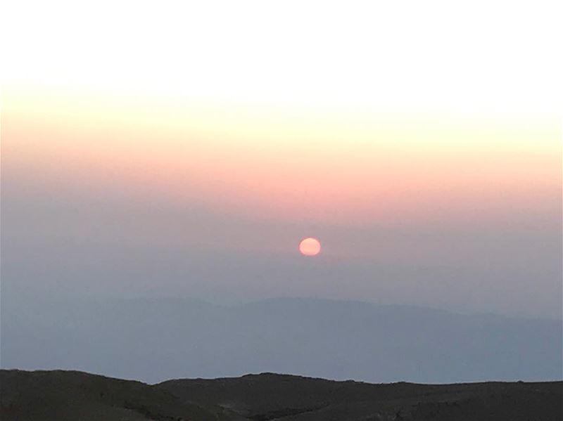 ...And the sun will rise. peakoftheday trekking hiking nature ... (Qurnat as Sawda')