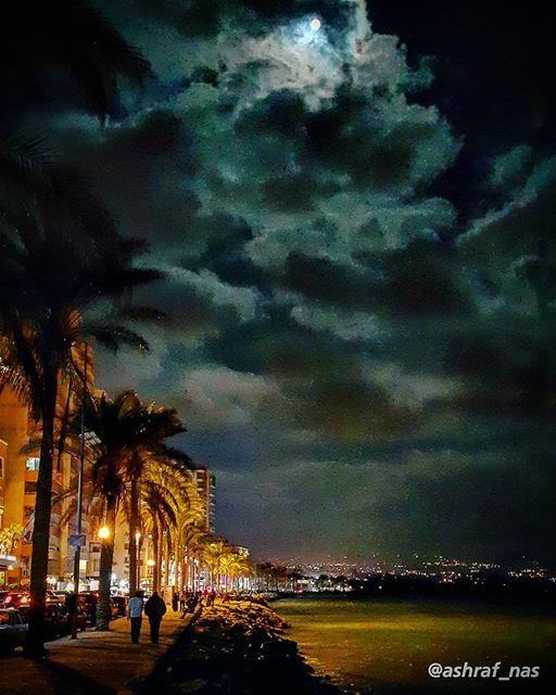بحبّك ما بعرف هنّ قالوليومن يومها صار القمر أكبر...عَ تلالنا وصارت الزغلو (Tyre, Lebanon)