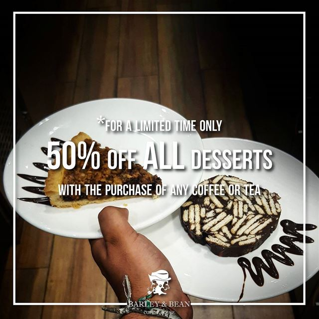 The DESSERT MADNESS is for a LIMITED TIME ONLY.Hurry us and go get any... (Barley And Bean)