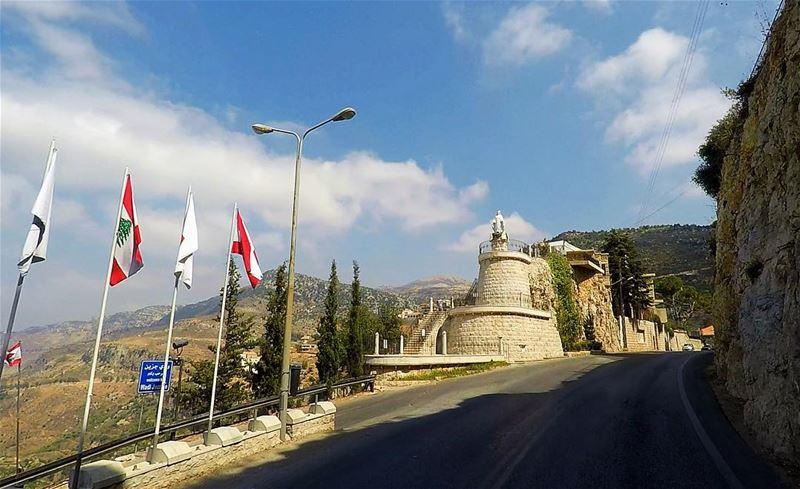 Our Lady Of Jezzine ❤️🇱🇧 jezzine southlebanon ... (Jezzîne, Al Janub, Lebanon)