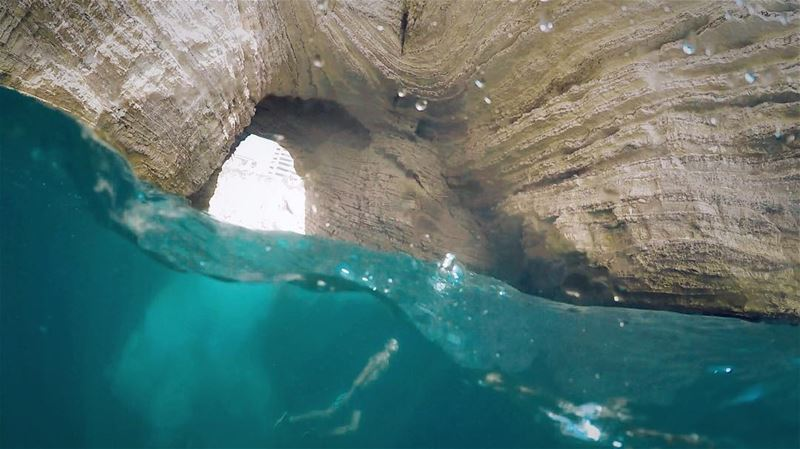 Part of that world... beach water summer dive underwater dome rock ... (لبنان الروشه)