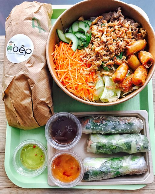 Vietnamese street food for lunch. Today I enjoyed a healthy, light and... (Bêp Vietnamese Street Food)