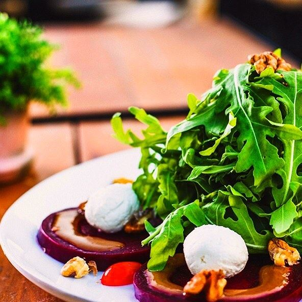 Relish our Goat Cheese Salad, along with a chilled glass of Wine! jackieo... (Jackieo)