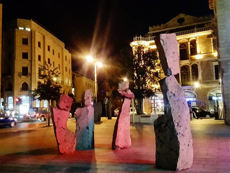 Lights, colors and shapes dance all night long...💫💖💫.. Downtown ... (Beirut Souks)