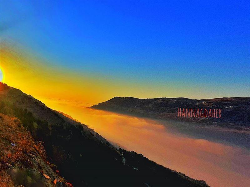 sunset sunsetlover sunsets sunset_ig fog blue sannine ... (Mount Sannine)