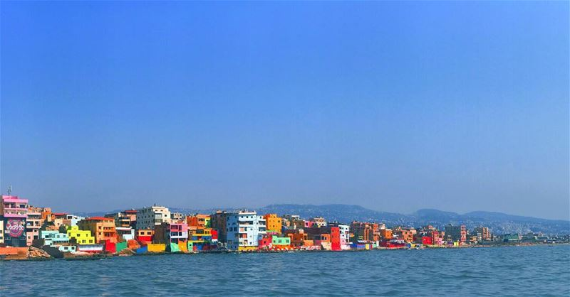 Lego Land... ouzville color colors buildings crowded shore beach ... (Al Ouzaii)