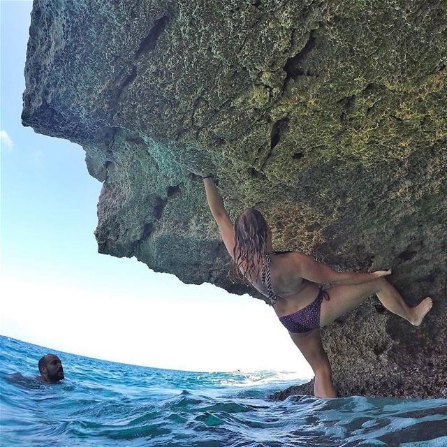 @rooshiemstra enjoying a deep water bouldering session!Looking for a new...
