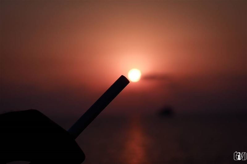 Follow your Dream even if lighting up a cigarette with the Sun..... (Lebanon)
