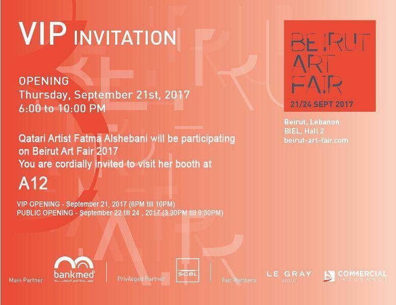 Beirut art fair Opining 21h September until 24th 2017 Biel _Hall 2Both... (Biel)