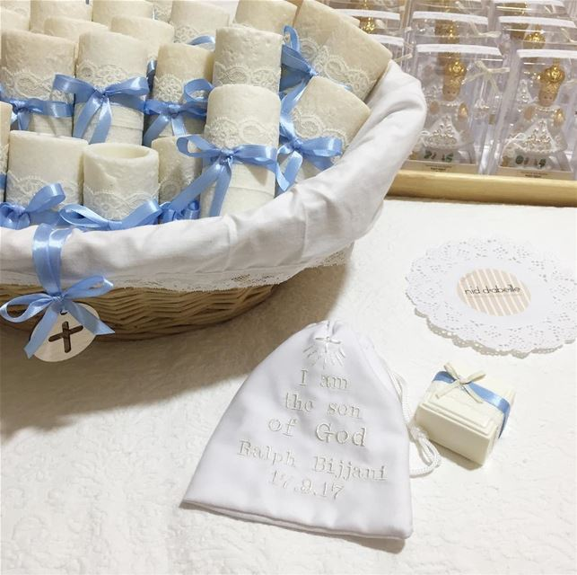 Blessed baptism 😇 Write it on fabric by nid d'abeille  blessed  baby  boy...