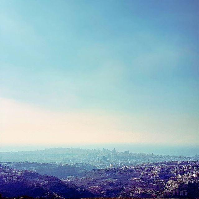 Blu Mediterraneo imissyou takethehighroad altitude cityscape beirut ... (Beirut, Lebanon)