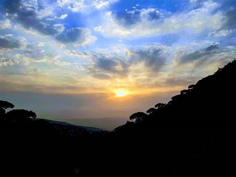 First autumn sunset sunset autumn sunset_ig sunset_hub sunsetsky ... (Mar Chaaya Broumana)