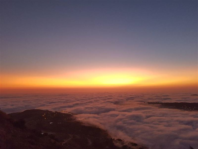 faqraclub sunset summer mountains lebanon colors nature ...
