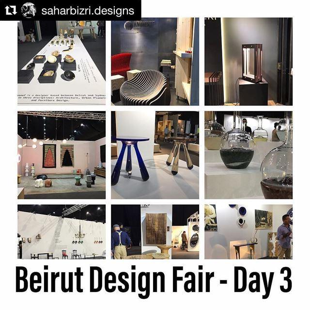 Repost @saharbizri.designs (@get_repost)・・・Beirut Design Fair - Day 3 ...