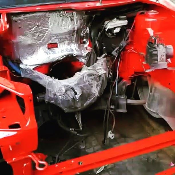 That beast under construction beast red peugeot passion parking ...
