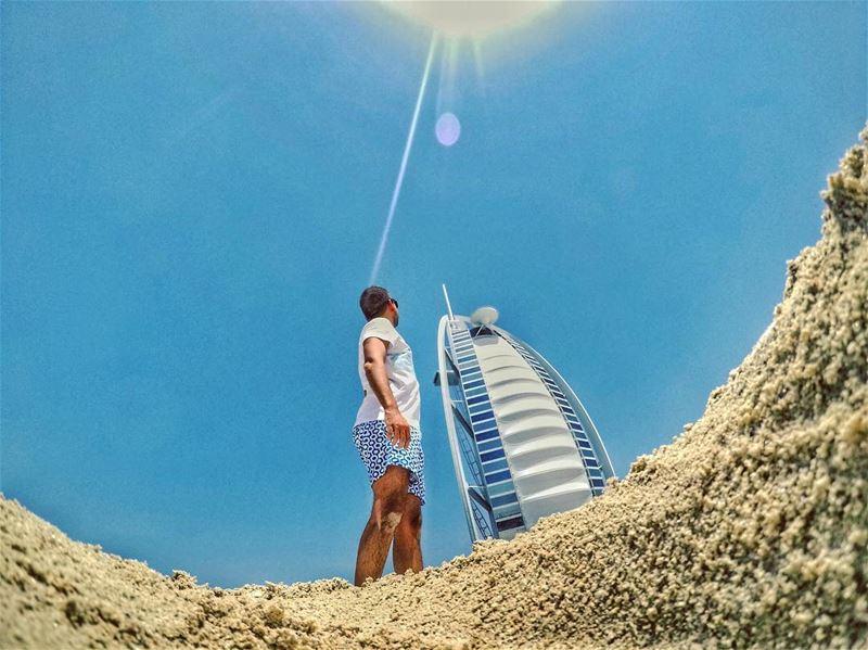 Beach Time🌞......... gopro goprohero5 traveler travelpics ... (Burj Al Arab)