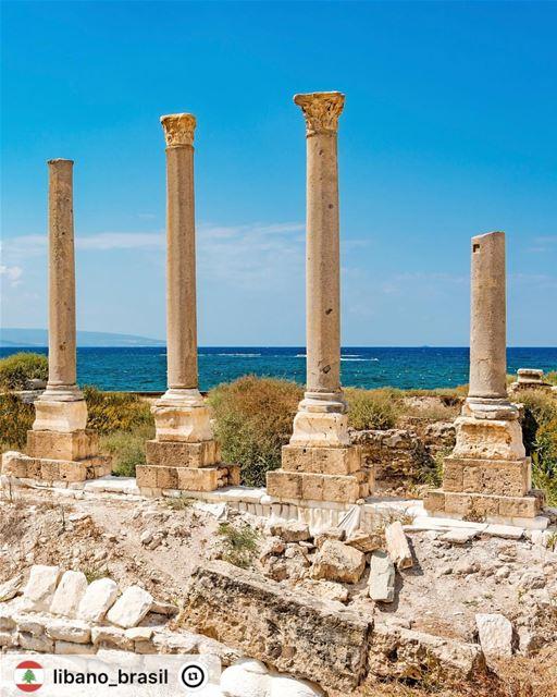 """""""Sítio arqueológico Al Mina em Tiro, no Líbano. Está localizado a cerca de..."""