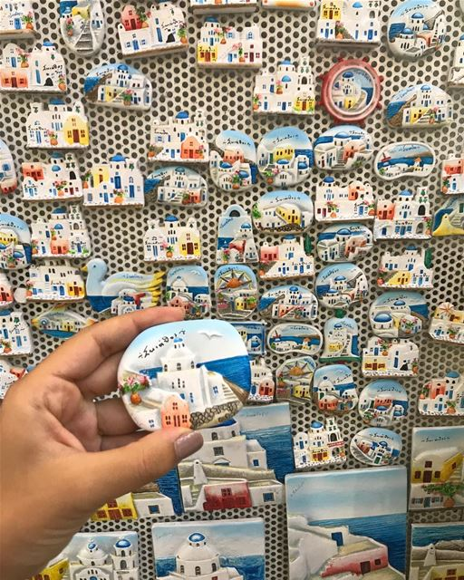 Choosing a magnet keepsake is a really really hard decision that shouldn't... (Skiathos)
