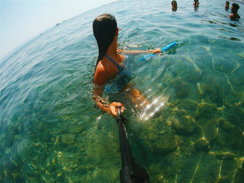 Crystal clear ...... gopro  goprohero4  hero4  beach  water  green ...