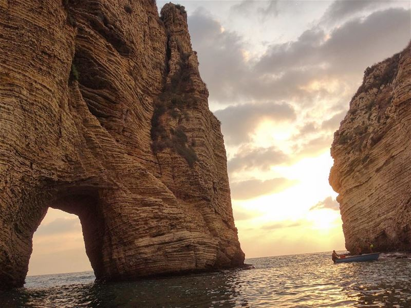So many great views in Lebanon but Raouché Rocks are my favorite, with the... (Raouche, Beirut)