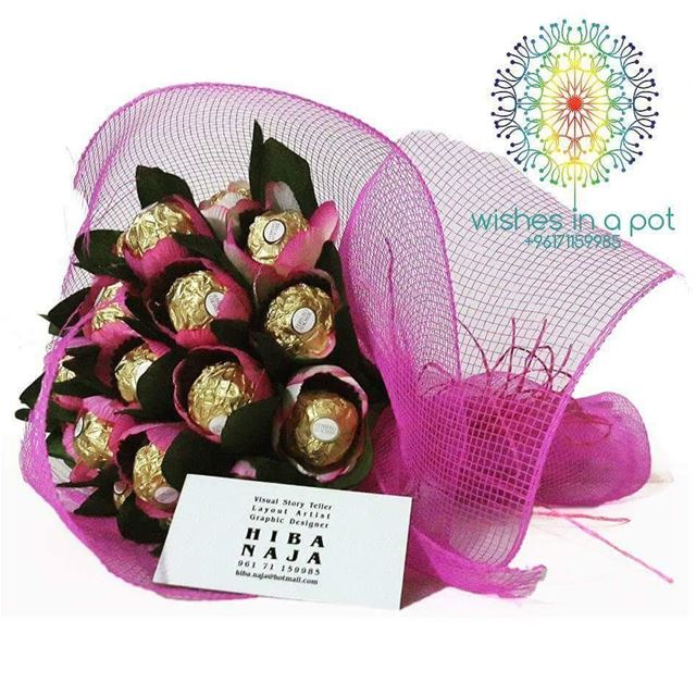 Day6 tulip ferrero rocher bouquet 20$ delivered inside  beirutIf you...