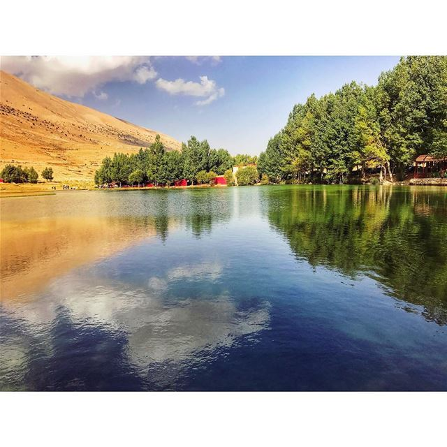reflection 🌲 livelovelebanon livelovenature nature naturephotography... (عيون ارغش)