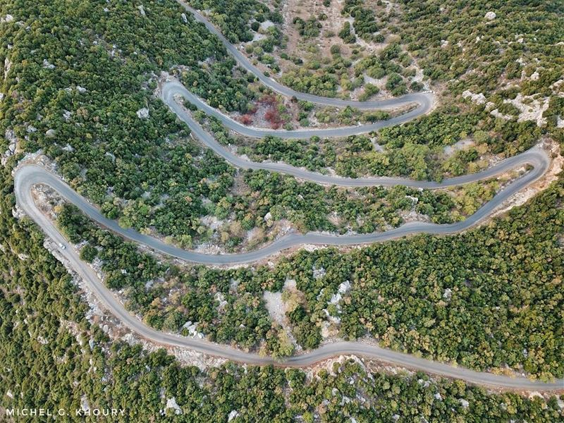 Straight roads do not make skilful drivers...... AboveLebanon Lebanon...