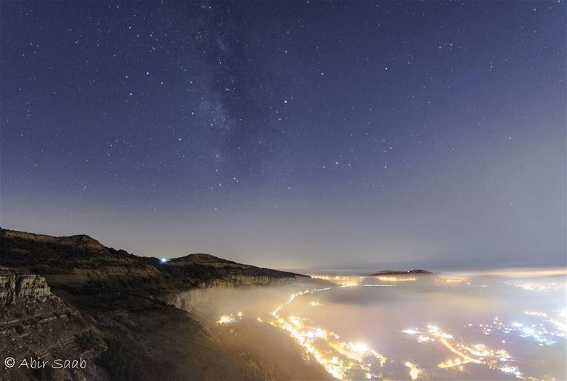 🇱🇧🇱🇧 LEBANON 🇱🇧🇱🇧 lebanon falougha milkyway fog foggy night ... (Falougha, Mont-Liban, Lebanon)
