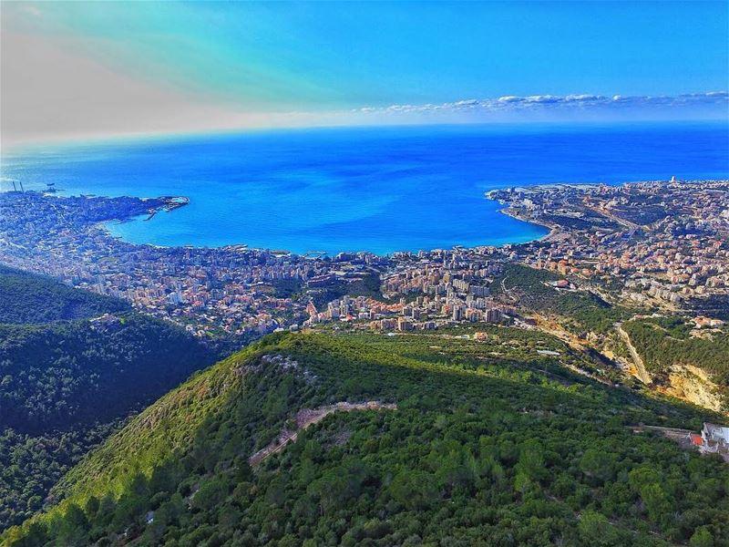 The poetry of earth is never dead ☀️🌊🇱🇧 livelovelebanon ... (Ghosta, Mont-Liban, Lebanon)