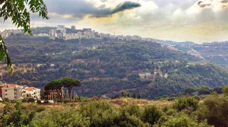 Good Afternoon 🌳🍂 autumn season beautiful view lebanon mylebanon ... (Mansourieh El Matn المنصورية - المتن)