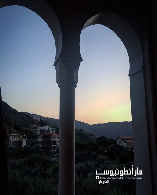 fouwara  sunset  arcade  lebanon  chouf Photo by @lydiatanios