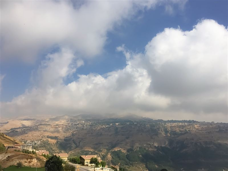 Sitting on cloudnine mountain mountainview mountainlove clouds ... (Lebanon)