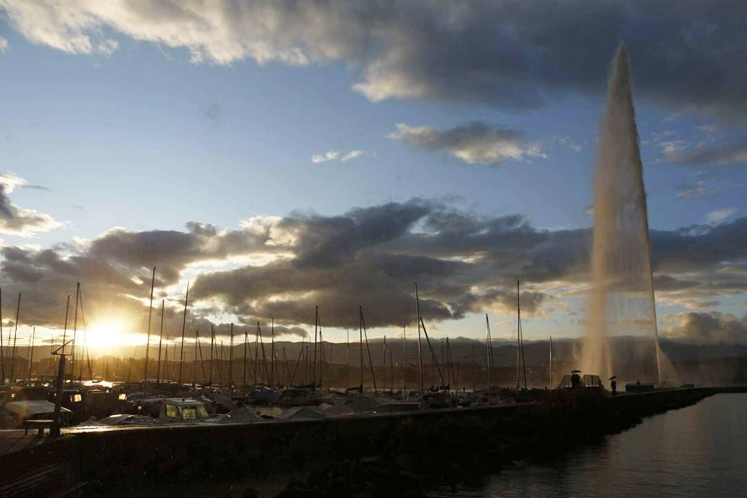 You know what they say in Europe; Lebanon is the Switzerland of the Middle... (Jet d'eau Genève)