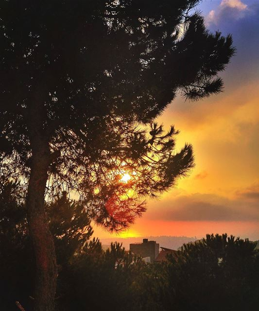 Amazing sunset 😍 lebanon nature naturelovers natureporn landscape ... (Brumana, Mont-Liban, Lebanon)