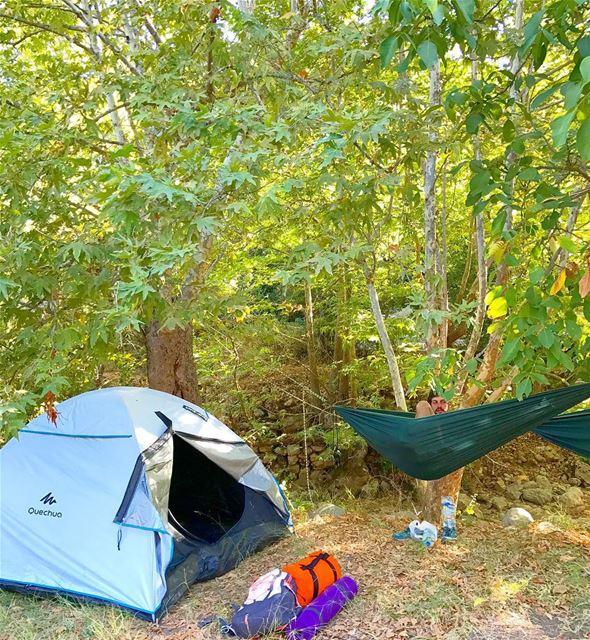 Camping night in the tent or in the hamock ? 🏕 Lebanon Nature ... (Kfarhilda, North)